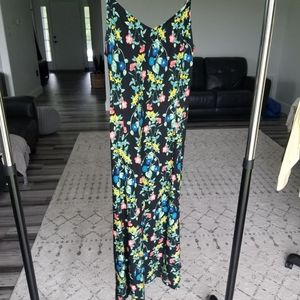 Old Navy Floral Slip dress small midi length